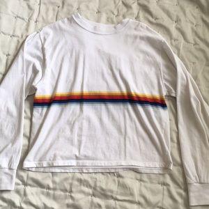 Brandy Melville rainbow stripe long sleeve shirt